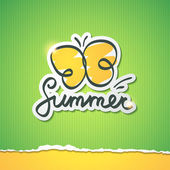 Summer vector illustration — Stock Vector