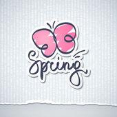 Spring vector illustration — Stock Vector
