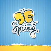 Spring vector illustration — Stock Vector