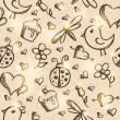 Romantic seamless pattern, vector eps 10 — Imagen vectorial