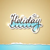 Summer holiday inscription, vector eps 10 — Stockvector