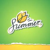 Summer illustration, vector eps 10 — Stock Vector