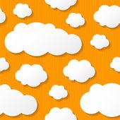 Paper clouds, vector eps 10 — Stock Vector