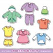 Vector de stock : Children clothes