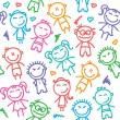 Vector de stock : Kid pattern