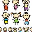 Vector de stock : Set of kids