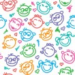 Funny faces — Image vectorielle