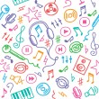 Music pattern — Stock Vector