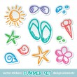 Stock Vector: Summer symbols