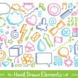 Hand drawn icons — Image vectorielle