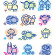 Hand drawn zodiac signs — Stock Vector #23232636