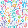 Baby seamless pattern — Stockvektor