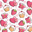 Romantic seamless pattern — Vector de stock #23234612