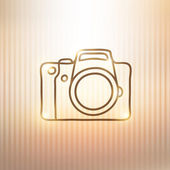 Photo camera — Stock Vector