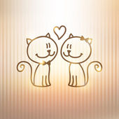 Cats couple — Stock Vector