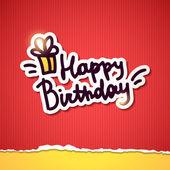 Feliz aniversário — Vetorial Stock