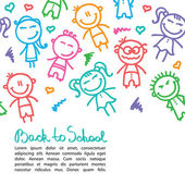 Kid background — Vector de stock