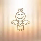 Ručně tažené anděl — Stock vektor