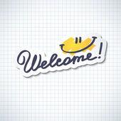 Welcome — ストックベクタ