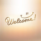Welcome — Vector de stock