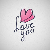 Love you — Vector de stock