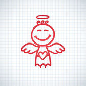Hand drawn angel — Vettoriale Stock