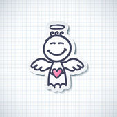 Hand drawn angel — Vector de stock