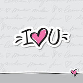 I love you text — Stock Vector