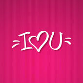 I love you text — Vecteur