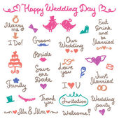 Wedding letterings — Stock Vector