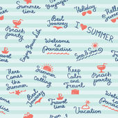 Summer pattern — Stock Vector