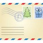 Xmas envelope — Stock Vector #7316070