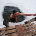 The winter swimming — Stock Photo