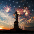 Independence day. Liberty enlightening the world — Stock Photo #46900315