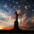 Independence day. Liberty enlightening the world — Stock Photo