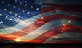 Independence day. flag usa — Stock Photo