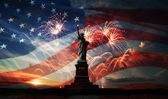 Independence day. Liberty enlightening the world — Stockfoto