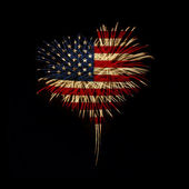 Independence day. My heart with love to usa. — Fotografia Stock