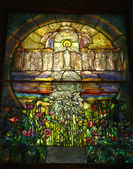Beautiful Stained Glass Church Window — Stock Photo