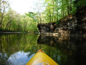Kayaking A River — Stock Photo