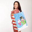 Adult woman with christmas shopping bags — Stock Photo #16185091