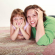 Girl with her Mom — Stock Photo #16185145
