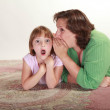 Girl with her Mom — Stock Photo