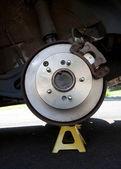 Rear disk brake assembly — Stock Photo