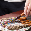 Stock Photo: Chocolate Covered Pretzels