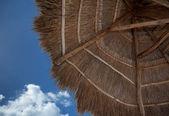 Halmtak paraply — Stockfoto