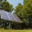 Foto Stock: Solar Panel Near Woods