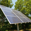 Solar Panel Near Woods — Stock Photo