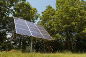 Solar Panel Near Woods — Stock Photo