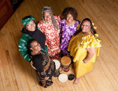 Group of African woman performers — Stock Photo